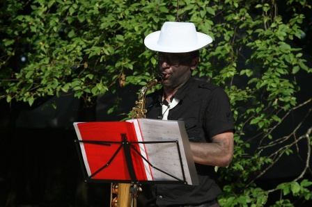 in the morning Nick-on-sax
